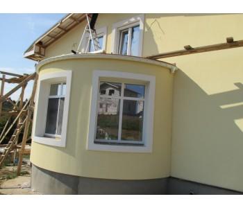 Штукатурка фасадов из газобетона и многощелевых керамических блоков, бетона, полнотелого и щелевого кирпича