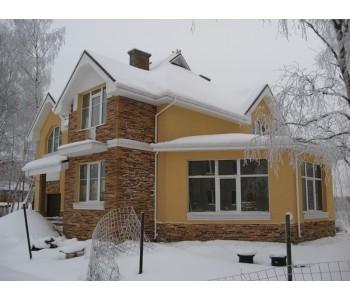 Система утепления фасадов с финишной облицовкой клинкерной плиткой, камнем, искусственным камнем, керамической плиткой и керамагранитом