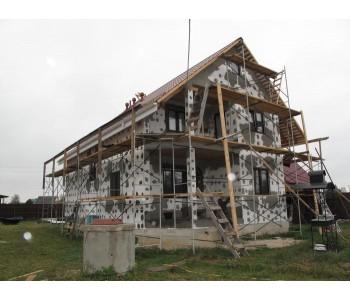 Штукатурный фасад на каркасном доме из плит OSB (ОСП), ЦСП и другие