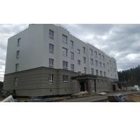 Утепление и отделка фасадов жилого комплекса пенополистиролом и минераловатной плитой, система СФТК Мокрый Фасад Baumit, декоративные элементы из фасадного пенополистирола
