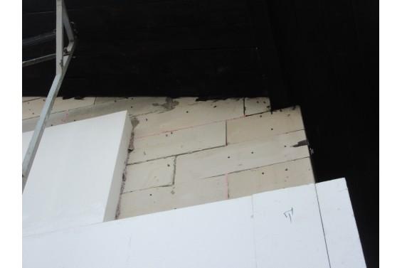 Усиление стен дома металлом и клей-пеной