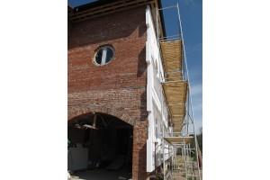 Провеска фасадов и подрезка листов пенополистирола