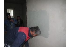 Нанесение камешковой декоративной штукатурки СТ 174