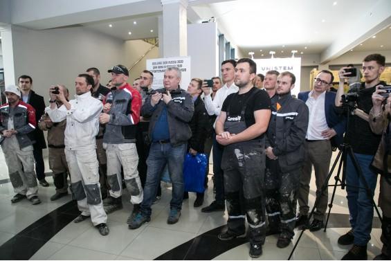 Участники Первого Чемпионата Фасадчиков СФТК Мокрый Фасад