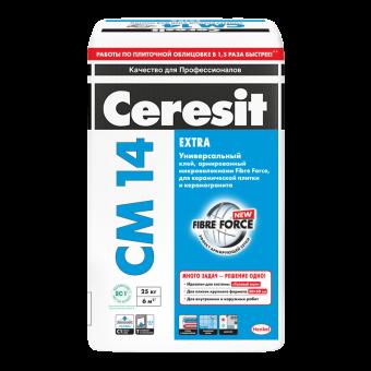 Клей плиточный Ceresit CM 14 Extra, 25кг