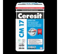 Высокоэластичный клей Ceresit CM 17 для плитки, 25 кг