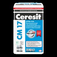 Высокоэластичный клей Ceresit CM 17 Super Flex для плитки, 25 кг