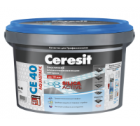 Затирка Ceresit CE 40 Aquastatic № 16 графит для швов до 10 мм, 2 кг