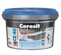 Затирка Ceresit CE 40 Aquastatic № 60 темный шоколад для швов до 10 мм, 2 кг