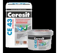 Затирка Ceresit CE 43 № 07 серая для широких швов от 5 до 40 мм, 2 кг