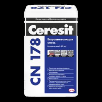 Стяжка Ceresit CN 178 для выравнивания пола (толщина слоя 5-80 мм)