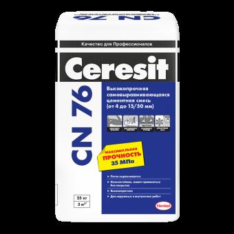 Стяжка Ceresit CN 76 для выравнивания пола (толщина слоя от 4 до 15 мм)