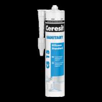 Герметик Ceresit CS 15 санитарный прозрачный, 280 мл