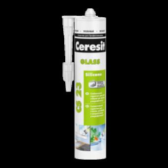Герметик Ceresit CS 23 для стекла прозрачный, 280 мл
