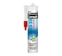 Затирка Ceresit CS 25 № 07 серая герметик для угловых швов и стыков, 280 мл