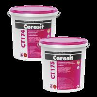 """Декоративная штукатурка Ceresit CT 175 """"короед"""" для внутренних и наружных работ, 2.0 мм"""