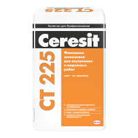 Финишная шпаклевка Ceresit CT 225 белая для внутренних и наружных работ, 25 кг
