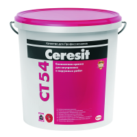 Силиконовая краска Ceresit CT 54 для внутренних и наружных работ, 15 л
