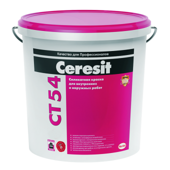 Силикатная краска Ceresit CT 54, 15 л