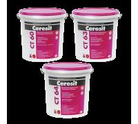 """Декоративная штукатурка Ceresit CT 60 """"камешковая"""" для внутренних и наружных работ, 1,5 мм"""