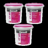 """Декоративная штукатурка Ceresit CT 64 """"короед"""" для внутренних и наружных работ, 1,5 мм"""