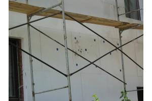 Сверление стен и установка фасадных дюбелей